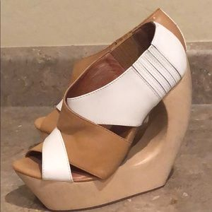 Jeffrey Campbell Rock Twist Wood Wedges
